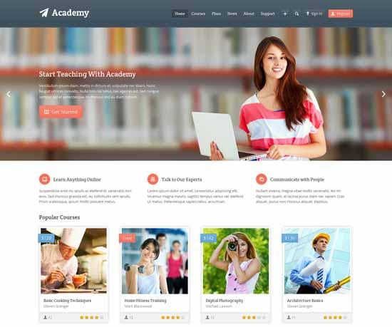 dịch vụ thiết kế website trung tâm ngoại ngữ