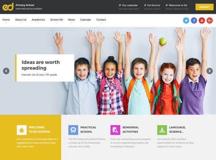 dịch vụ thiết kế website trung tâm tiếng anh